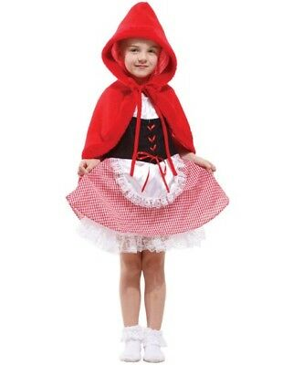 KIDS LITTLE RED RIDING HOOD GIRL CHILDRENS FANCY DRESS COSTUME BOOK WEEK (Little Red Riding Hood Little Girl Kostüm)