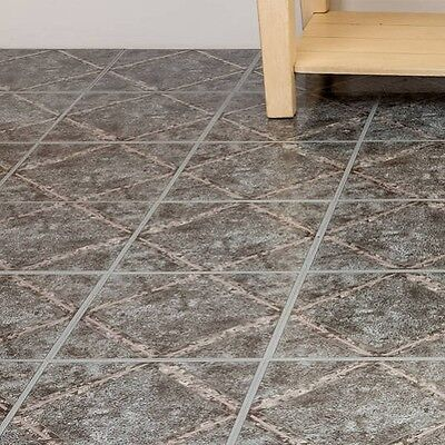 Peel And Stick Tile Self Adhesive Vinyl Flooring Grey Kitchen Bathroom Floor