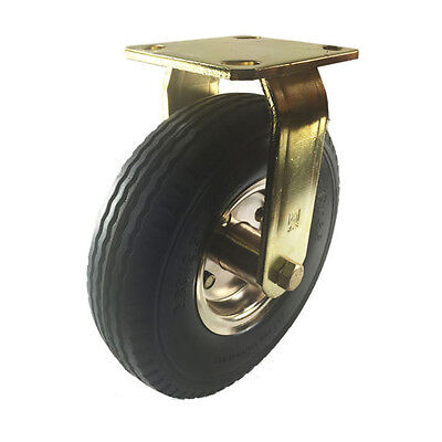 8 X 2-12 Pneumatic Wheel Brass Caster Foam Flat-free - Rigid