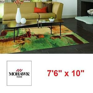 "NEW MOHAWK HOME 7'6"" x 10' AREA RUG - 109505499 - STRATA AQUA FUSION MULTI ABSTRACT RUGS FLOORING DECOR ACCENTS CARPE..."