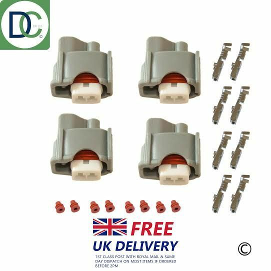 4 x Injector Connector Plug for Denso Injectors in Lexus GS 450h