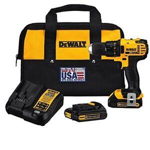 Dewalt (DCD780C2) 20V 1/2'' Cordless Drill Driver Kit (NEW) $144