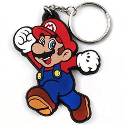 Bioworld Nintendo Super Mario Bros. Rubber Key Chain, New