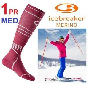 "NEW 1PR ICEBREAKER SOCKS WOMENS MED 101282601M 217457319 SHOE SIZE 7.5 TO 9 CALF 13 TO 14.2"" SKI PLUS SOCKS ULTRA LIG..."