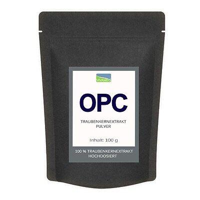 95% - Extrakt (OPC Traubenkernextrakt 95% Pulver Traubenkern Extrakt - 100g mit Zertifikat 1A .)