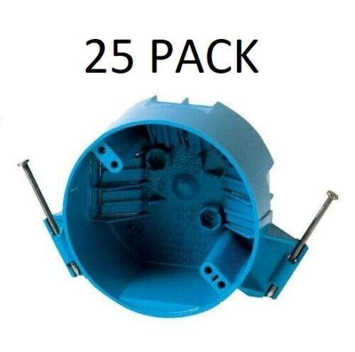 """25 PACK B520A 4"""" Ceiling Round Electrical Box New Work with Nails 20 Cubic Inch"""