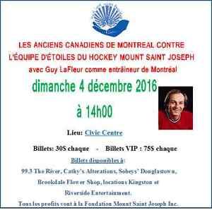 Les anciens Canadiens de Montréal avec Guy LaFleur en Miramichi!