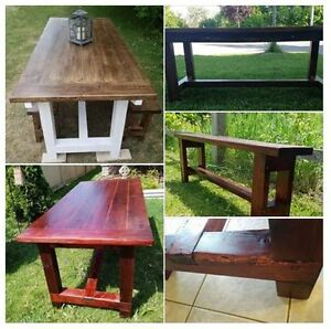 Custom Made Harvest & Pub Style Tables & Benches.