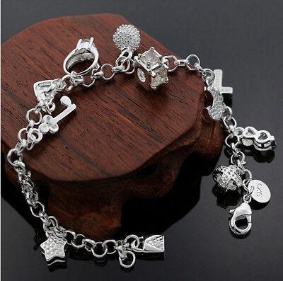 925er Silber Armband Bettelarmband Armkette   Neu