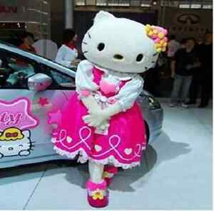 Hello Kitty Mascot Costume Fancy Dress Cartoon Character Adult Suit NEW