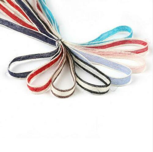 Details about 10M Linen mixed color hemp rope ribbon decorative gift  wrapping hemp rope 1cm