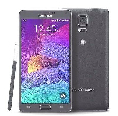 Unlocked Samsung Galaxy Note 4 Sm N910a   Black At T  T Mobile Lcd Shadow