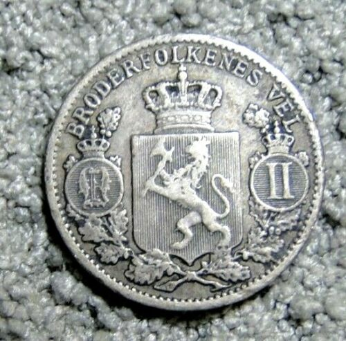 NORWAY 1900 25 ORE SILVER COIN KM # 360