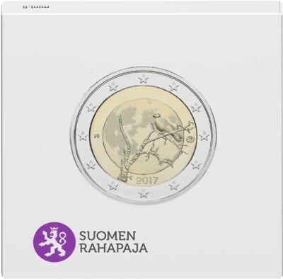 2 euro commémorative de finlande 2017 belle epreuve (be) - nature finlandaise