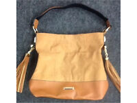 River island tan leather Slouch Bag