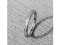 FOR SALE: 18ct White Gold Diamond Eternity Wedding Band/Ring - Excellent Condition - £295