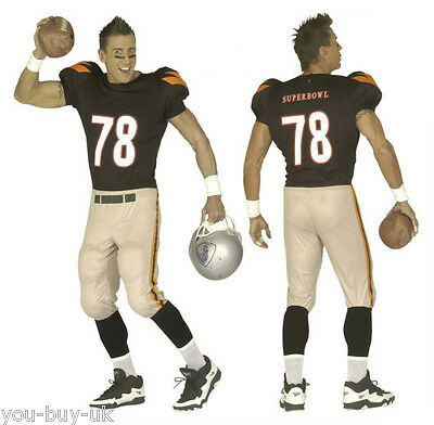 ll Player Costume Kit USA Sports Kit NFL Superbowl Stag  (Nfl Football Kostüme)