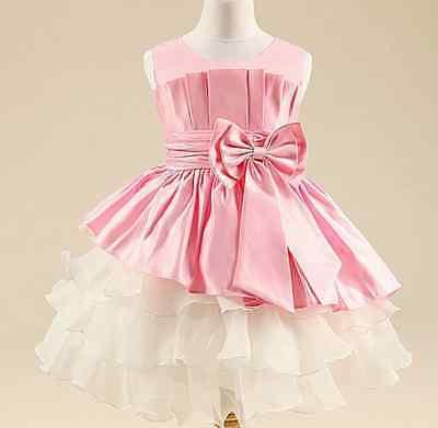 Kinder Abendkleid Hochzeitskleid Mädchen Party Kleid Geburtstag Feier 134 / 140 (Geburtstag Mädchen Party)