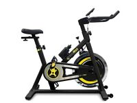 Bodymax B2 Indoor Studio Cycle Exercise Bike (Black) + Free LCD Monitor