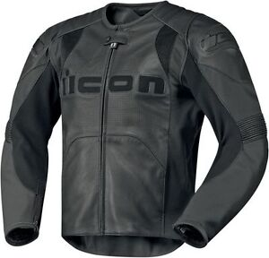 Icon Overlord Performance Leather Jacket - Large