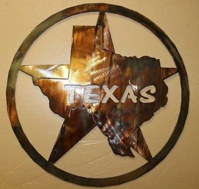 The TEXAS Star Metal Wall Art -