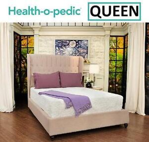"""NEW H-O-P 14"""" GEL FOAM MATTRESS Health-o-pedic 14"""" Deluxe Height Gel Memory Foam Mattress - QUEEN 99545270"""