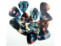 Cartoon Characters Superhero Guitar Picks Lot of 10 1.0 mm Thick Free Track New