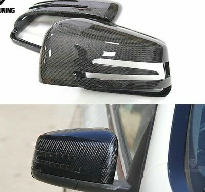 Carbon Seitenspiegel Kappen Mercedes CLA CLS GLA GLK A B C E S Klasse Spiegel