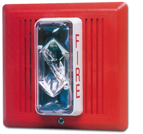 (NEW) EDWARDS 757-7A-T- HORN/STROBE TEMPORAL 24VDC - 15/75CD (Red)