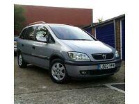 Vauxhall Zafira 1.8 Petrol. 7 seater