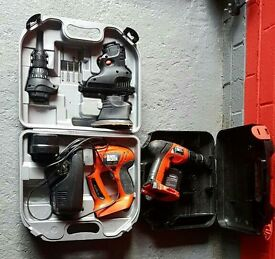 Black and Decker Quatro pack set plus extra drill and power pack