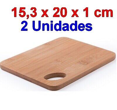 2 x Tabla de Cocina madera de Bambú 15,3 x 20 x...