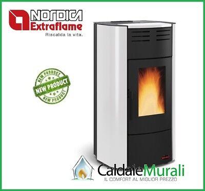 Estufa de Calefacción A Pellets LA NORDICA EXTRAFLAME Raffaella Hidro 18.8Kw