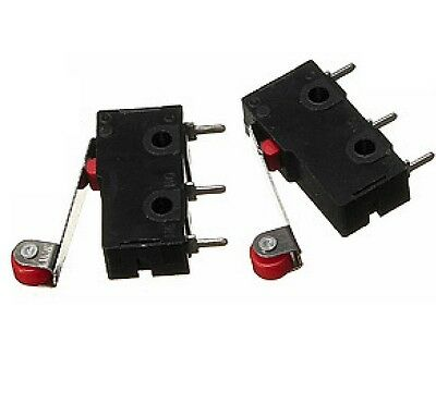 10pcs Kw12 Kw12-3 Micro Roller Lever Arm Normally Open Close Limit Switch