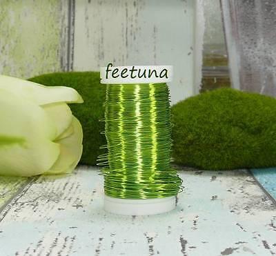 10 m Draht (0,10 €/m) Blumendraht Dekodraht  Myrtendraht  Kupferdraht hellgrün