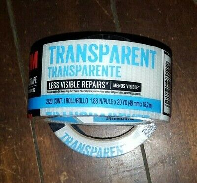 2 X 3m Transparent Duct Tape Each Roll 1.88 X 20yd