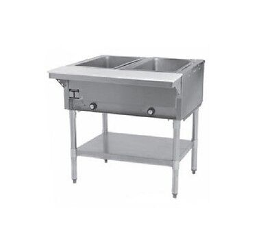 Eagle Group Ht2-ng 33-inch 2-well Gas Steam Table Natural Gas Nsf Cul Kcl