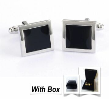 NEW High Quality Handmade Mens Silver Steel Cufflinks With Box Wembley Cambridge Area Preview