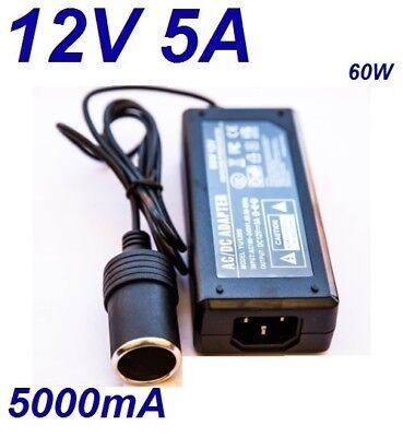 Cargador Coche Mechero 12V 5A 5000mA 60W vs Cable Alimentacion 220V 12V...