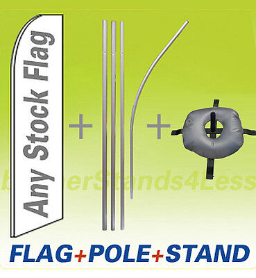 Swooper Flag Kit 15ft Feather Banner Sign Flag Pole Cross Stand Water Bag