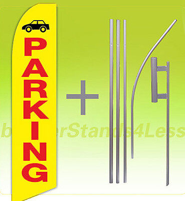 Parking Swooper Flag 15 Kit Feather Flutter Tall Banner Sign - Yb