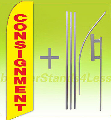 Consignment Swooper Flag Kit Feather Flutter Banner Sign 15 - Yb