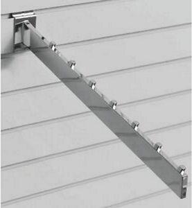 New Chrome 7-Cube Slatwall Waterfall Hooks 24 pc
