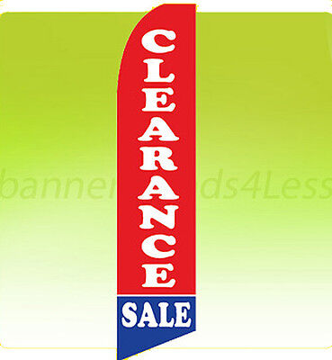 Clearance Sale Swooper Flag Feather Flutter Banner Sign 11.5 Tall - Rb