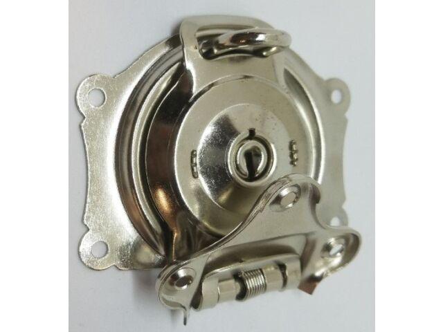 Nickel Plated Chrome Trunk Lock Keys chest steamer old antique vintage rustic