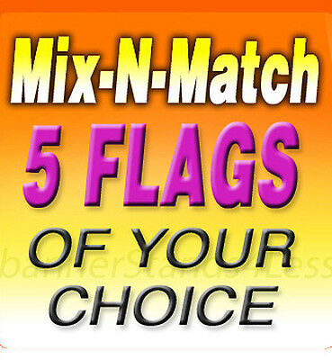 Swooper 11.5 Feather Flag Banner Sign Mix N Match Wholesale 5 Pack Flags Only