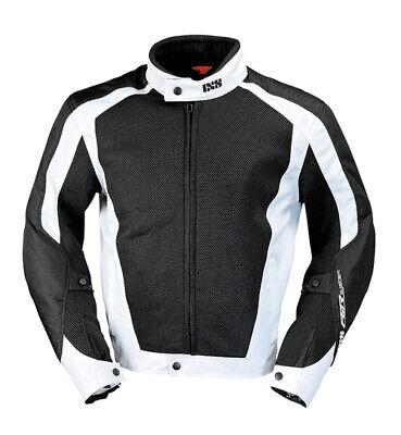 iXS Airmesh Evo 2 Mesh Motorcycle Jacket With Armor Black/White - Men's Armored Mesh Motorcycle Jackets