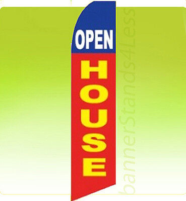 Open House Swooper Flag Feather Flutter Banner Sign 11.5 - Rb