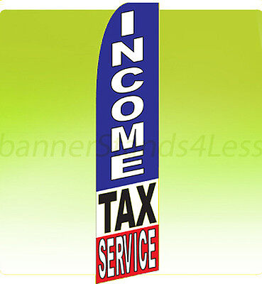 Income Tax Service - Feather Swooper Flutter Banner Sign Tall 11.5 Flag F