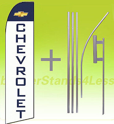 Chevrolet -swooper Flag Kit Feather Flutter Banner Sign 15 Set - Auto Dealer Wq